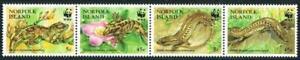 👉 NORFOLK 1996 WWF- tropical LIZARDS MNH ** REPTILES
