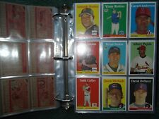 2007 TOPPS HERITAGE COMPLETE MASTER SET w/SP's, YELLOW VARIATIONS, INSERT SETS