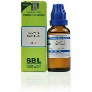SBL Aconite Napellus Liquid Dilution Homeopathic Medicine 30ml