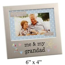 Me & My Grandad Decorated Aluminium Photo Frame - New & Boxed  Lovely Gift Idea
