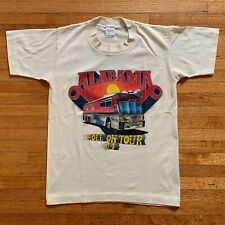 New listing 1984 Vintage 80s Alabama (The Band) T-Shirt Men Sz Xs Distressed Band Rock Tee
