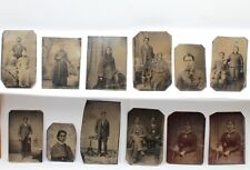 Lot Of 24 Tintypes Native American Indian & Other Authentic Ferrotype Nr# 8820-7