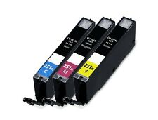 3-pk For Canon CLI251 XL CMY Ink For PIXMA MG6320 MG6420 MG6620 MG7120 MG7520
