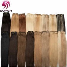 "12""-24"" Remy 100% Human Hair Weft Weave Weaving Extensions DIY Straight 100g/pc"