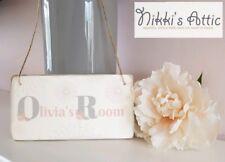 Personalised Girls Bedroom Door Wooden Plaque, Sign, Gift , Home, 20cm x 10cm