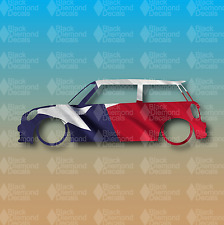 "Mini Cooper Texas State Flag Cooper S R53 6"" JCW Custom Vinyl Decal Sticker"