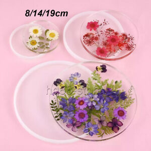Resin Casting Round Coaster Mold Epoxy Agate Jewelry Making Mould Craft Mould UK