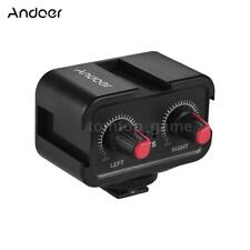 Andoer Dual-Channel DSLR Microphone Audio Mixer Mixing Adapter for Camera R7Z0