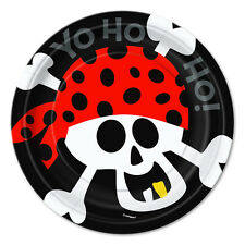 "Pirate  Birthday Party Supplies 7"" Small Dessert Plates"
