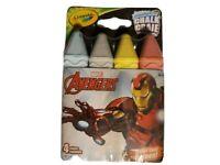 (2Pk) Sidewalk Chalk Crayola Marvel Avengers Washable Multi Color 4 Pk  New