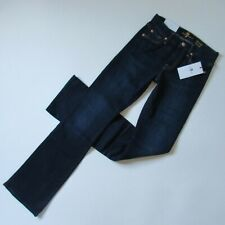 NWT 7 For All Mankind Kimmie Bootcut in Dark Royal Rinse Stretch Jeans 25 x 33
