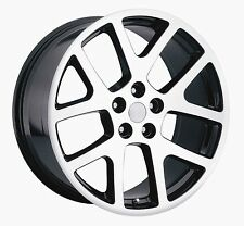 "(4) 22"" Staggered Viper Machined 300C Challenger Charger Magnum Wheels Rims"