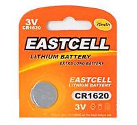 50 x CR1620 3V Lithium Knopfzelle 70 mAh (10 Blistercard a 5 Batterien )EASTCELL