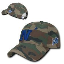 NCAA United States Naval Academy Relaxed Camo Camouflage Baseball Caps Hats