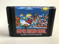 Super Mario Bros. 16 Bit Game Card For Sega Genesis Mega Drive System