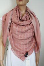 GUCCI Strickschal mit GG -Muster 140x140 cm Wolle/Seide Lachs NEU 281942