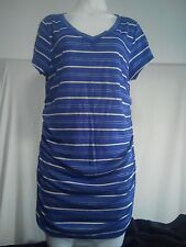 Capture Ladies TunicTop/Dress in Blue with White Stripes V-Neck BNWTO