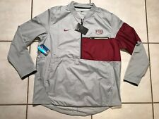 NWT NIKE Florida State Seminoles GRAY 1/2  Zip Jacket Men' Large