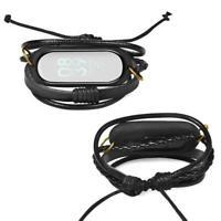 Schwarz retro weben strap armband ersatz armband für xiaomi band mi 3 D7C4