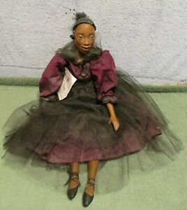"""Daddy's Long Legs 20"""" African American Margo Ballerina Dancer Doll~Tagged~LOOK"""