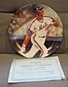 """1986 Sports Impressions Darryl Strawberry 10"""" Plate Limited Edition CoA NY Mets"""