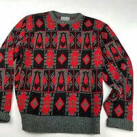 Vintage Mens XL Le Tigre 3D Coogi Style Sweater Cosby Biggie Hip Hop Textured