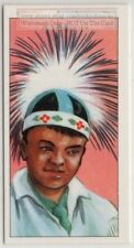 "Native ""North Dakota"" American Indian Boy In ""Sunday Best"" 40+ Y/O Trade Ad Card"