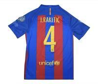 Barcelona 2016-17 Authentic Home Shirt Rakitic #4 (Excellent) S Soccer Jersey