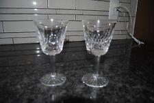 "VINTAGE WATERFORD CRYSTAL LISMORE CLARET WINE/ GLASSES SET OF 2 PERFECT 5 7/8""!"