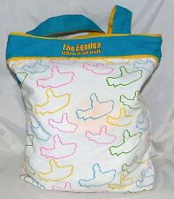 The Beatles Yellow Submarine by Bioworld Yellow Aqua Red & White Cotton Tote Bag
