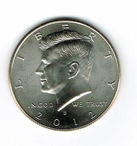 2012-D Brilliant Uncirculated Copper-Nickel Clad Copper Strike Half Dollar Coin!
