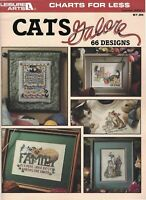 Cats Galore 66 Cross Stitch Designs  from Charts for Less  Vintage 1996