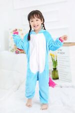 Kids rainbow Unicorn Kigurumi Animal Cosplay Costume Onesie16 Pajamas Sleepwear.