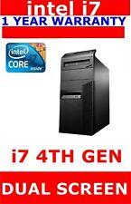 LENOVO M93P i7 4th GEN COMPUTER PC 16GB RAM NEW 256GB SSD DELL OR HP MOUSE