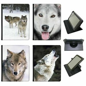 Wolf Wolves Universal Folio Leather Case For Most Tablets