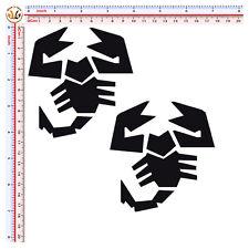 Adesivi abarth scorpione sticker uto moto casco pvc nero scontornato 2 pz.