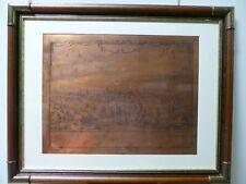 Kupferdruckplatte DANZIG 4-sprachig