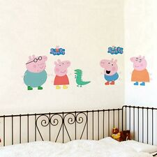 Large Cartoon Peppa Pig Wall Decals Removable Sticker Kids Art Nursey Home Decor