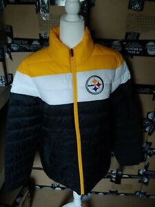 Nfl pittsburgh steelers Puffy Jacket Coat puffer pittsburg L  winter poly quilt