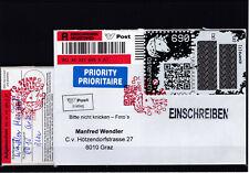 RRR ECHT gelaufener Reco Brief mit Crypto Marke Blau Edition mit Aufgabeschein