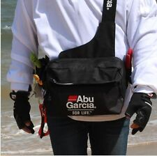 ABU GARCIA Waterproof Fishing Tackle Bag Pockets Waist Shoulder Reel Lure Bags