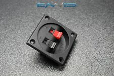 (1) SQUARE  JACK TERMINAL CUP SCREW SPEAKER SUBWOOFER BOX SPRING LOADED TCSS
