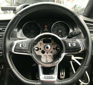 GENUINE 2013+ VW GOLF MK7 GTD STEERNG WHEEL BLACK LEATHER MULTI FUNCTION