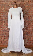 Genuine Vintage Wedding Dress Gown 50s 60s Retro Victorian Edwardian Style UK 6