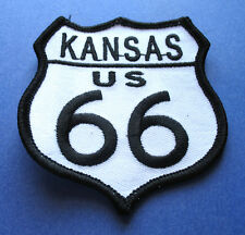 LEGENDARY ROUTE 66 KANSAS U.S. HIGHWAY BIKER IRON ON PATCH