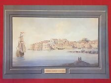 VIEW OF RAGUSA - FINE ART COLOR PRINT REPLICA of ORIGINAL GOUACHE END OF 1800