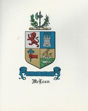 Great Coat of Arms McLean Crest genealogy, would look great framed!