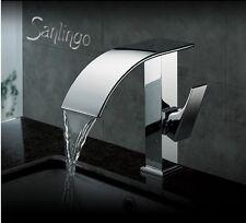 Wasserfall Armatur Schwall Armatur Badezimmer verchromt Sanlingo
