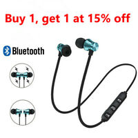 Bluetooth Headphone  Stereo Earphone Headset Wireless Magnetic In-Ear Earbuds