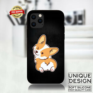 Corgi Butt Dog Funny Phone Case Samsung Galaxy S10 S9 Huawei iPhone Case Gift